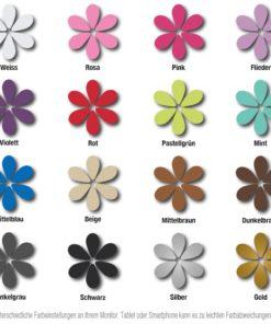 Farbkarte für Türdekore und Wandtattoos