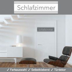 Startbild Türtattoo Schlafzimmer erstklassige Farben in seidenmatter Oberfläche