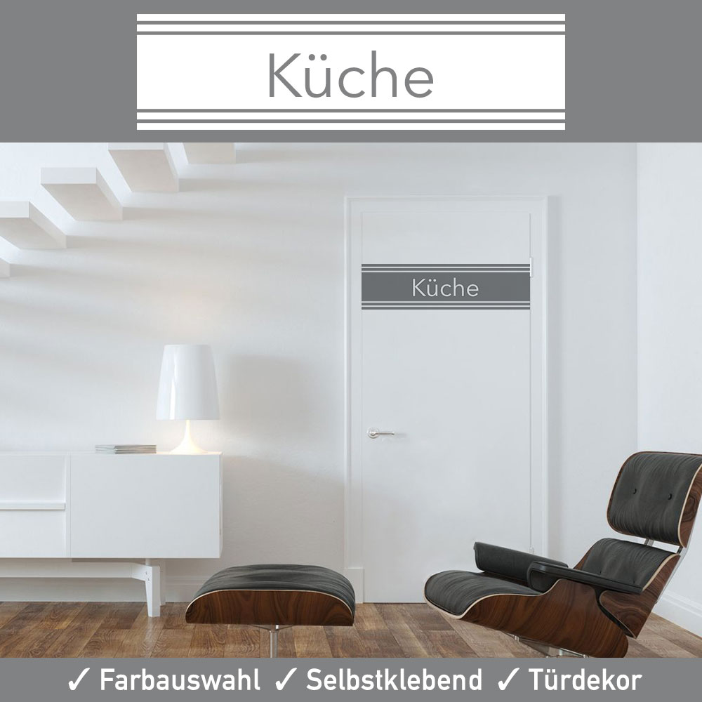 t r aufkleber k che in vielen erstklassigen farben und matter oberfl che. Black Bedroom Furniture Sets. Home Design Ideas