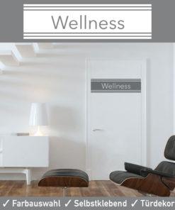 Startbild Türaufkleber Wellness Spa im edlem Design und seidenmatter Optik