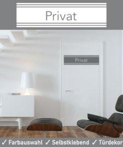 Startbild Türaufkleber Privat in vielen modernen Farben