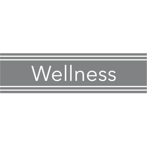 Türaufkleber Wellness Spa im edlem Design und seidenmatter Optik