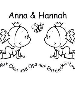 Aufkleber Wunschnamen Mädchen für Opas und Omas Auto