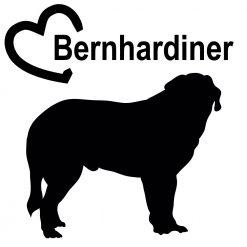 Auto Aufkleber Bernhardiner mit Herz
