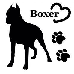 Aufkleber Boxer in beeindruckender imposanter Pose