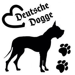 Hunde Auto Aufkleber deutsche Dogge