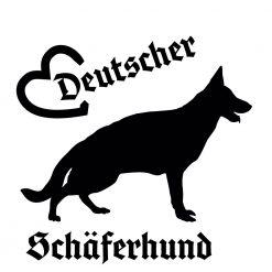 Hunde Auto Aufkleber deutscher Schäferhund
