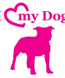 Staffordshire Terrier Auto Aufkleber in vielen tollen Farben