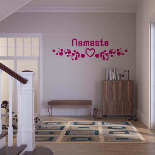 Beispiel Wandtattoo Namaste Yoga