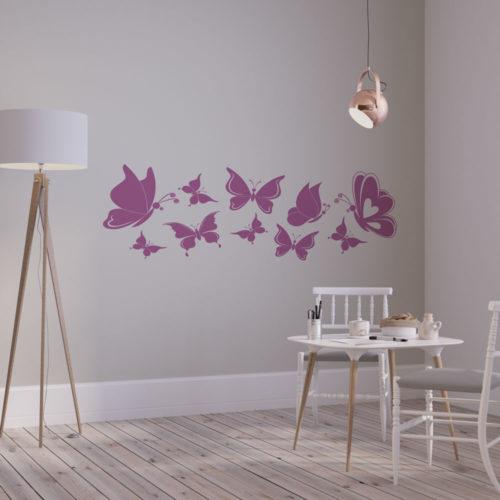 Beispiel Wandtattoo Schmetterlinge - Schwarm