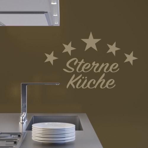 Beispiel Wandtattoo Gourmet Sterne Küche