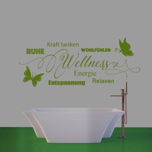 Beispiel Wandtattoo Wellness Entspannung Energie