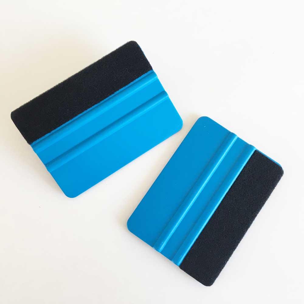 das kunststoff rakel in blau mit filzkante geeignet f r folien aller art. Black Bedroom Furniture Sets. Home Design Ideas