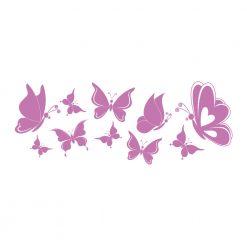 Wandtattoo Schmetterlinge - Schwarm