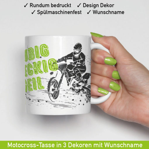Startbild Motocross Tasse MX in 3 verschiedenen Motiven