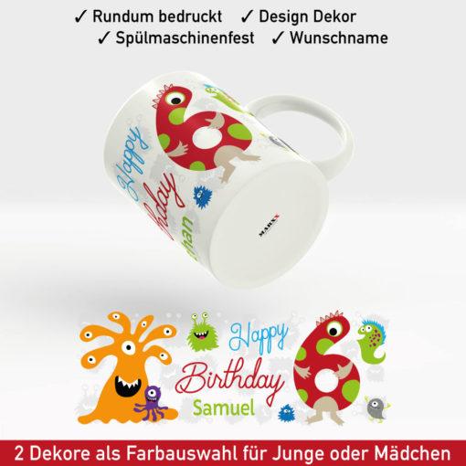 Tasse Geburtstag Motiv Junge