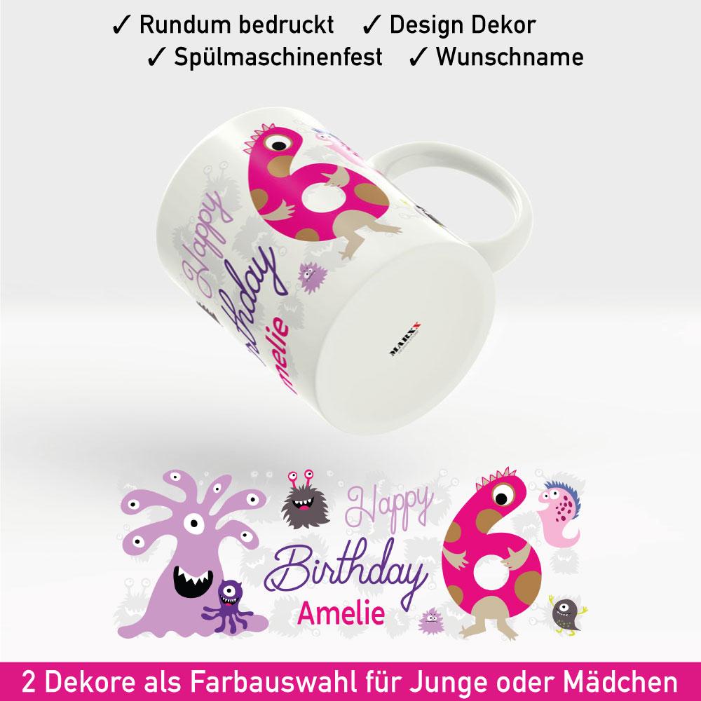 Tasse Geburtstag Motiv Mädchen