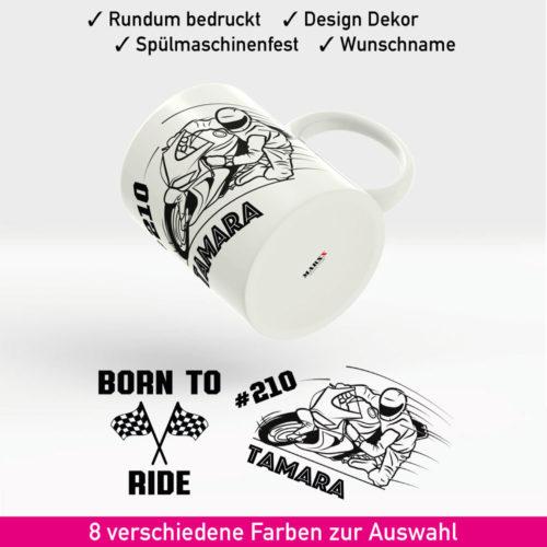 Motorrad Kaffee Tasse