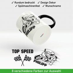 Motorrad Kaffeetasse Topspeed