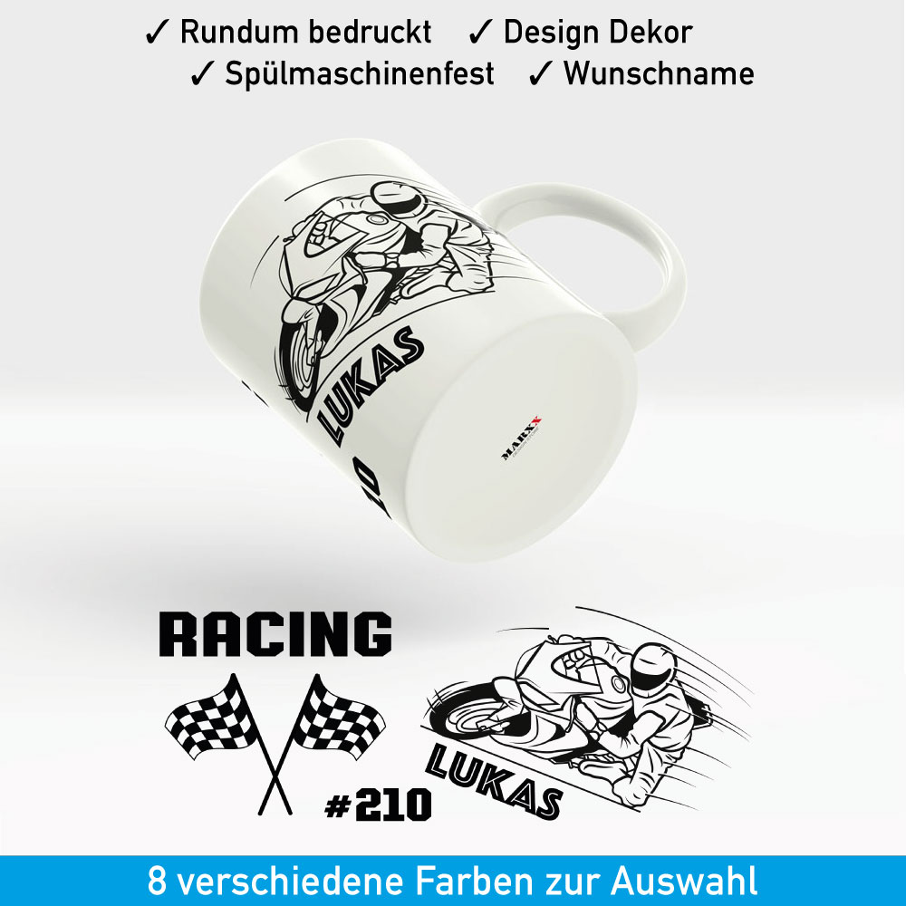 Motorrad Tasse Racing