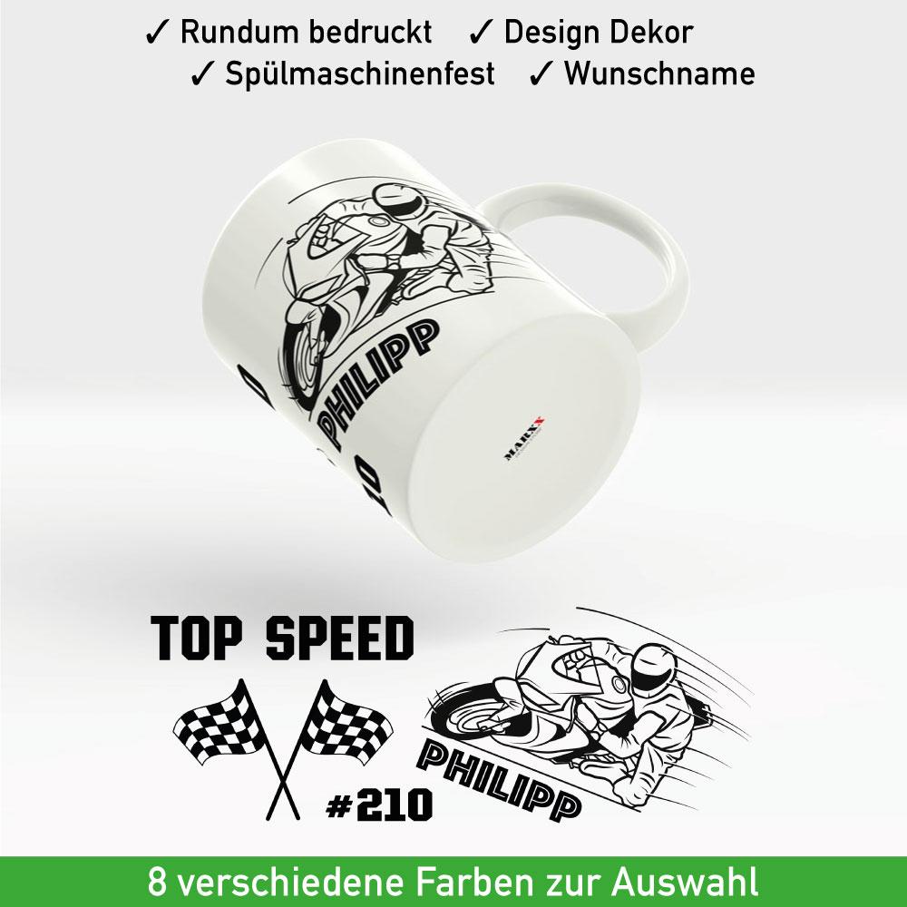 Motorrad Tasse Topspeed