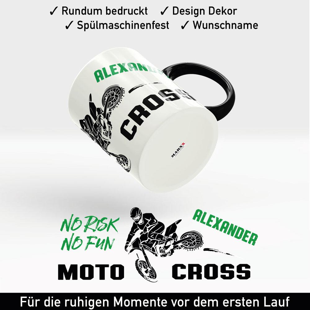 Motorrad MX Motocross Tasse