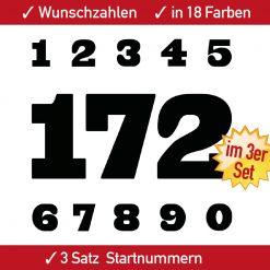 Ziffern, Zahlen und Racing Aufkleber Motorrad