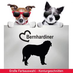 Startbild Auto Aufkleber Bernhardiner mit Herz