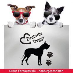 Startbild Hunde Auto Aufkleber deutsche Dogge