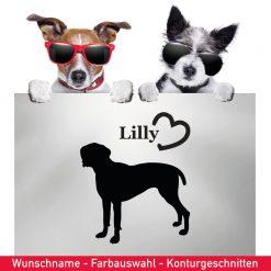 Startbild Hunde Aufkleber deutscher Pointer mit Wunschname