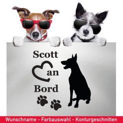 Startbild Hunde Aufkleber Dobermann mit Wunschname