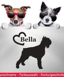 Startbild Riesenschnauzer Hunde Aufkleber mit Wunschname