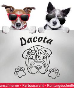 Startbild Shar-Pei Hunde Aufkleber mit Wunschname