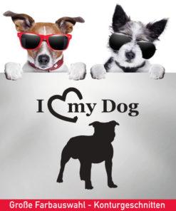 Startbild Staffordshire Terrier Auto Aufkleber in vielen tollen Farben