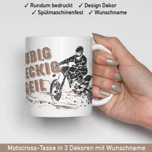 Motocross Tasse in verschiedenen Motiven