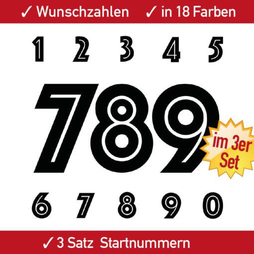 Startnummern Aufkleber Ziffern für Motorrad und Kart
