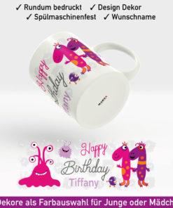 Kindertasse mit Namen Motiv Mädchen
