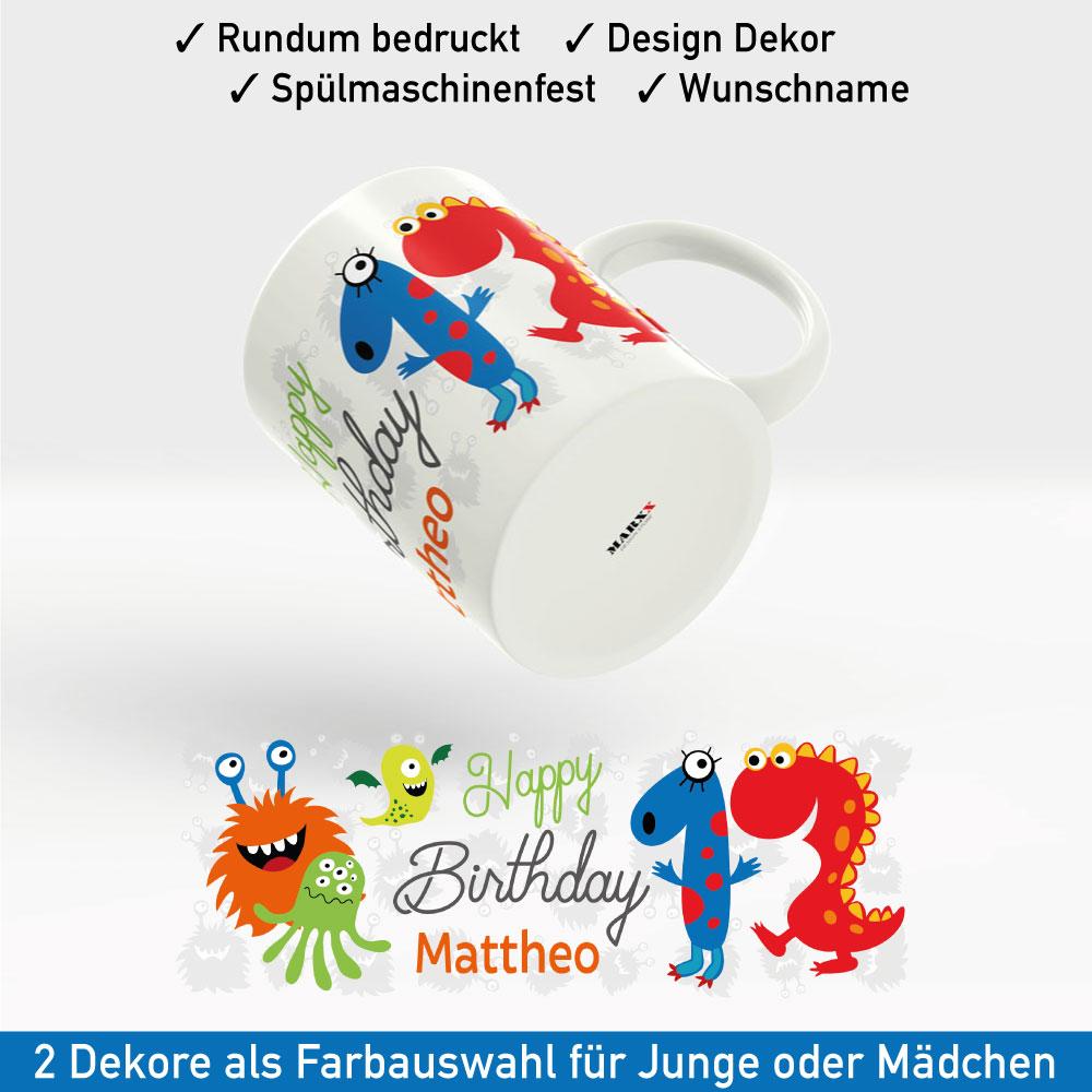 Tasse zum Geburtstag Motiv Junge