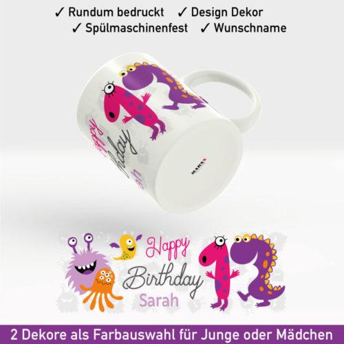 Tasse zum Geburtstag Motiv Mädchen