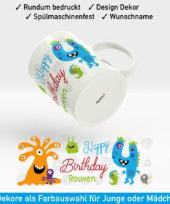 Tasse Zahl Geburtstag Motiv Junge