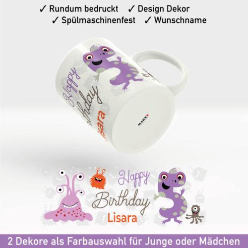 Tasse bedrucken zum Geburtstag Motiv