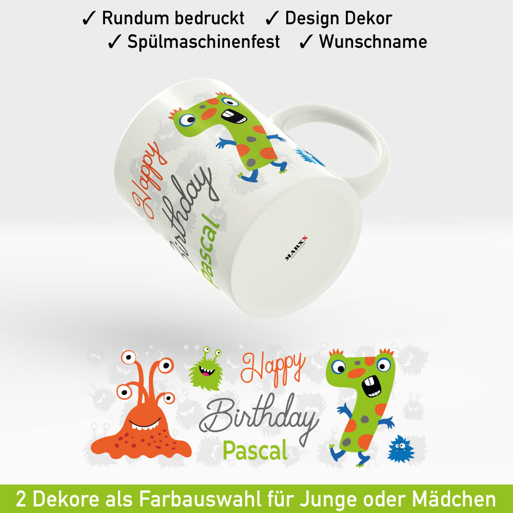 Bedruckte Tasse Geburtstag Motiv Junge