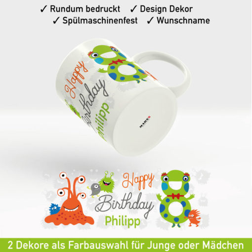 Tasse Namen Geburtstag Motiv Jungen