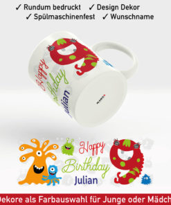 Tasse Happy Birthday Motiv Junge