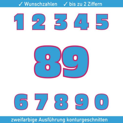 Zweifarbige Startnummern für Motorrad, Auto, Kart und Quad