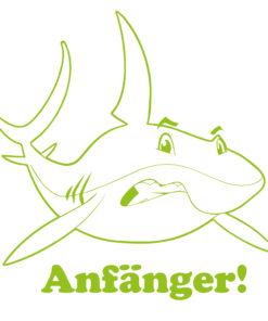 Autoaufkleber Fahranfänger mit coolem Hai im aggressiven Look