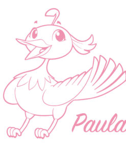 Türdekor Kinderzimmer Vogel mit Wunschname