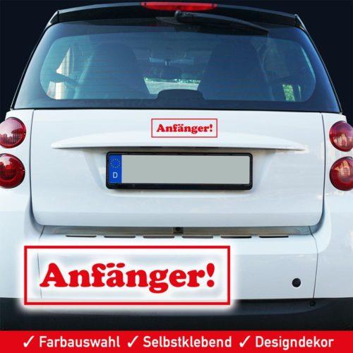 Startbild Auto Aufkleber Führerscheinneuling Fahranfänger