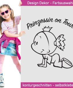 Prinzessin on Tour Aufkleber im ganz süßen Design