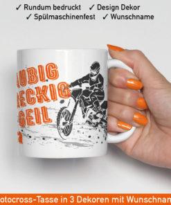 Motorrad Enduro Tasse ind drei verschiedenen coolen Motiven